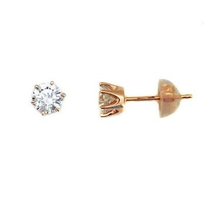 【JHT金宏總珠寶/GIA鑽石專賣】0.611ct天然鑽石耳環/材質:18K(JB43-A26)