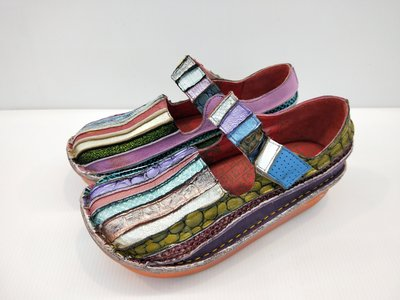 Macanna  麥坎納專櫃~全新馬卡龍色調~直切彩虹氣墊鞋 4355║阿貴鞋麗屋║