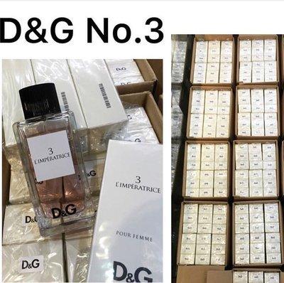 $480 清貨大🈹價 D&G Dg No.3 no3 Edt 100ml 女士淡香水