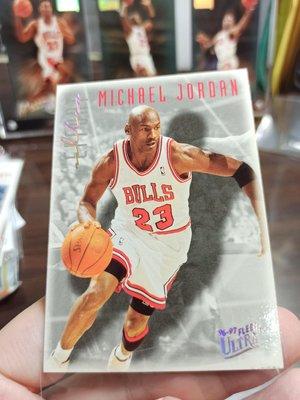 1996-97 Michael Jordan Fleer Ultra Effort #143  特殊背景 老卡  Chicago bulls