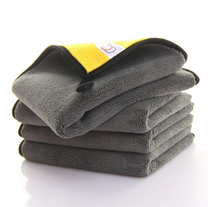 30*40超細纖維珊瑚絨汽車專用毛巾4s洗車店加油站禮品擦車巾
