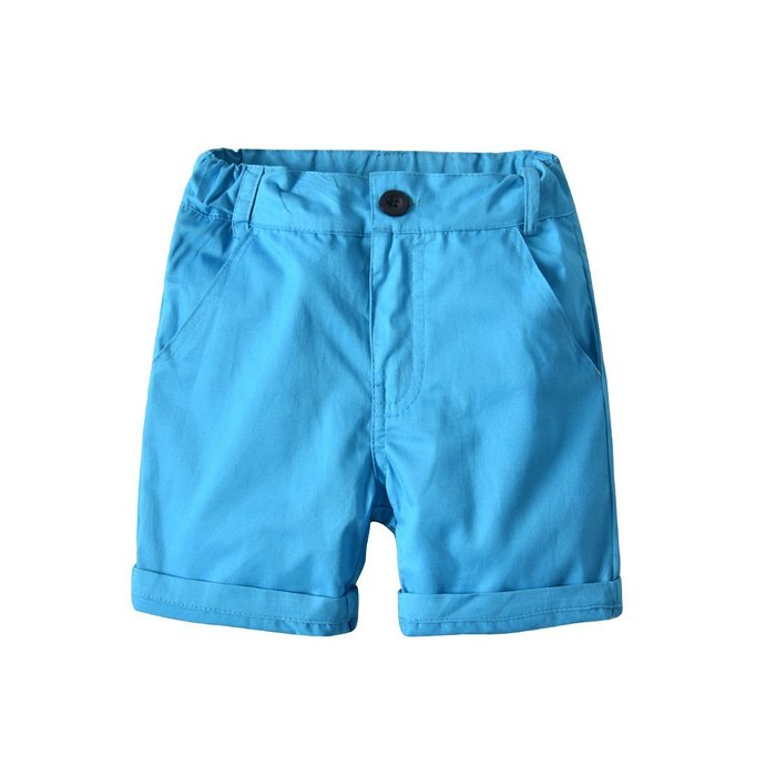 男童 休閑短褲 中大童寶寶夏天梳織純棉短褲  拉鏈褲