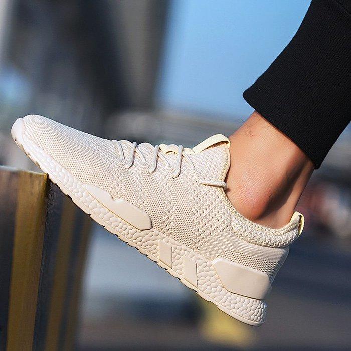 衣萊時尚-熱賣款 新款春季韓版潮流男鞋子百搭飛織透氣運動休閑鞋時尚網紅潮鞋