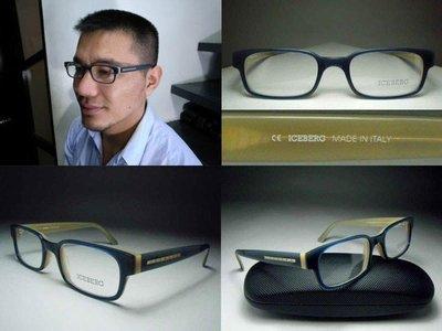 【信義計劃】全新真品 ICEBERG 冰山光學眼鏡 義大利製方框 超越雷朋強尼戴普款