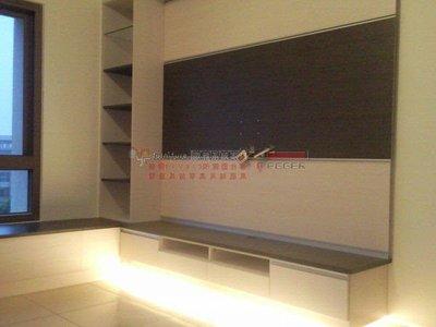 歐雅系統家具 系統櫃 系統廚具 工廠直營 懸掛電視櫃+窗邊櫃+壁飾板