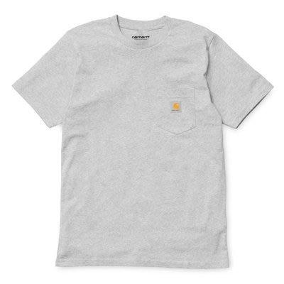 【紐約范特西】 Carhartt WIP Pocket T-shirt A161058 口袋 LOGO 短T 灰色