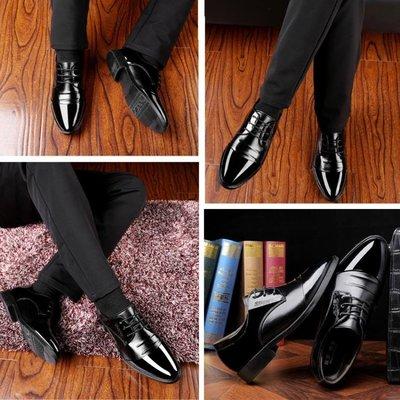 男士皮鞋商務正裝休閒上班潮鞋韓版尖頭英倫內增高男鞋子