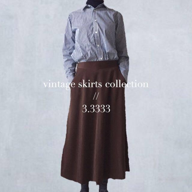 - vintage - 日本製・古著/優雅的深咖啡色長裙