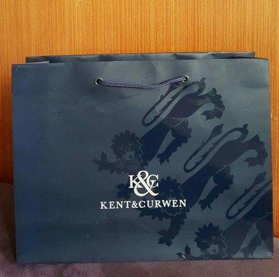k&c紙袋 Kent&Curwen 英國皇家御用品牌 禮品袋 硬紙袋 厚紙袋