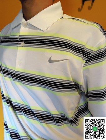 (出清款)Nike Golf 運動休閒 白/橫條  POLO衫  FIT-DRY科技(5折起)  專為運動休閒設計
