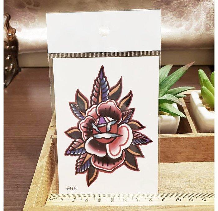 【萌古屋】】花朵 - 手背防水紋身貼紙刺青貼紙18 K12
