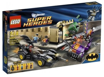 全新絕版- Lego 樂高 6864 Batman Batmobile and the Two-Face Chase - DC Super Hero 蝙蝠俠系列
