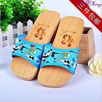 柒柒KR 日本親子木鞋兒童木屐防滑男女童木拖鞋寶寶卡通木頭鞋