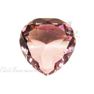 【芮洛蔓 La Romance】 璀璨水晶 - 10 cm 心形水晶鑽 (粉)