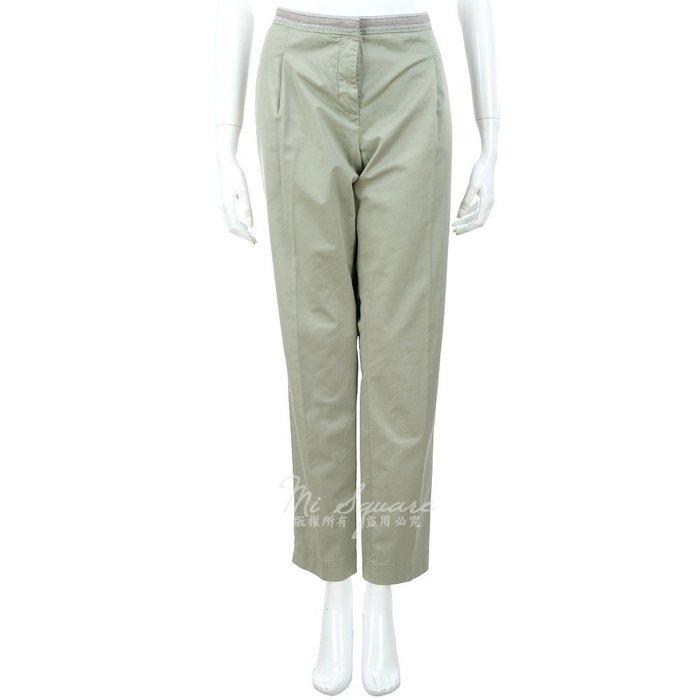 米蘭廣場 FABIANA FILIPPI 灰綠色 抓褶 配色拼接 九分褲 1320199-36