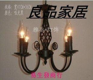【易生發商行】歐式仿古蠟燭吊燈客廳燈餐廳燈鐵藝吊燈蠟燭吊燈F6415