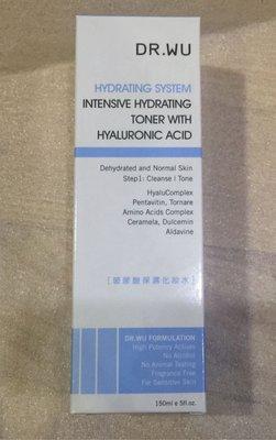 DR.WU 玻尿酸保濕化妝水 (第五代玻尿酸保濕配方)150ML一瓶(可搭配賣場三件島內宅配免運)