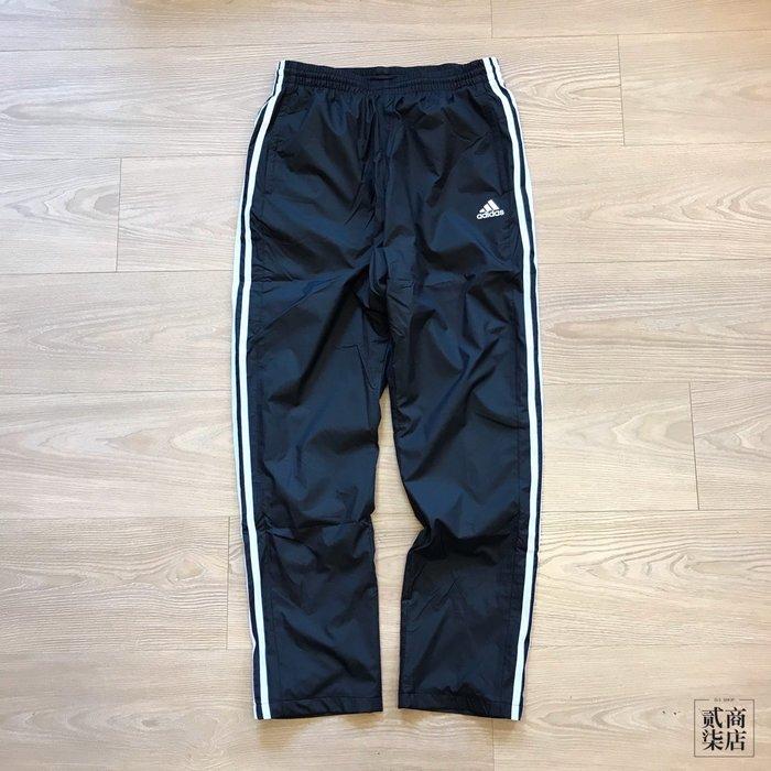 (貳柒商店) adidas MH 3S WD Pants 男款 黑色 三線褲 防風 長褲 刷毛 ED1984