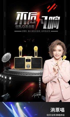 新年 加碼送防噴套+32G隨身碟(內附萬首歌)2021最新官方正版SDRD-309無線藍芽音響/家庭KTV/貓頭鷹麥克