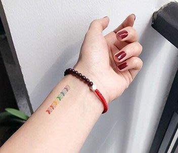 【萌古屋】泫雅風彩虹音符箭頭 - 兒童Party卡通防水紋身貼紙刺青貼紙RC-523