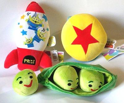 【卡漫迷】 玩具總動員  絨毛吊飾 三入組  ㊣版 Toy Story  星星 三眼怪 玩偶 豌豆 裝飾 Alien