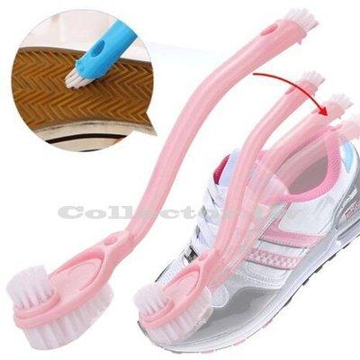 創意蒐藏家【F15113002】多功能雙頭長柄清潔洗鞋刷 洗鞋專用清潔刷
