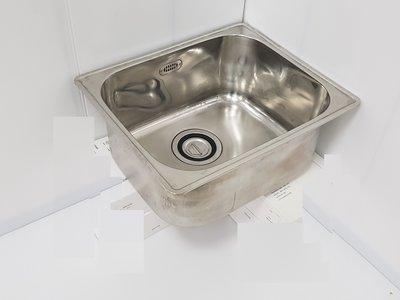 鑫忠廚房設備-餐飲設備:二手不銹鋼內崁式水槽 賣場有快速爐-西餐爐-水槽-工作檯