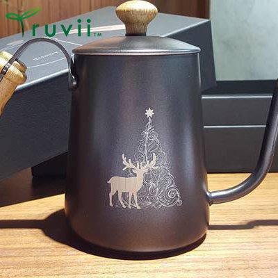丹大戶外【Truvii】頂級雞翅木咖啡沖壺 黑色手沖壺/咖啡壺 550ML 樹