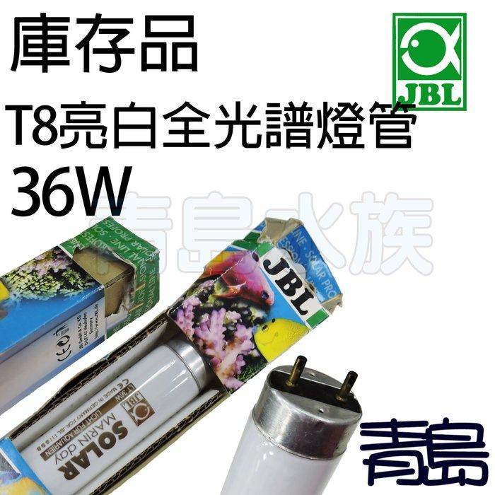 五1中0↓↓庫存品。。青島水族。。J6160400德國JBL---T8 亮白全光譜燈管.蝦缸專用15000K==36W