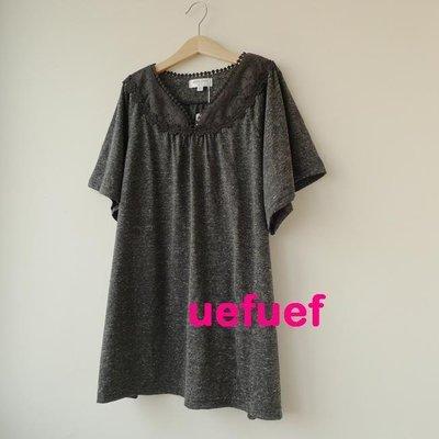 ☆UeF☆日本正品marie claire精緻蕾絲質感中長版衫