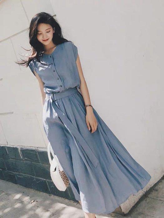 法式優雅氣質連身裙洋裝襯衫裙長裙