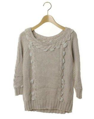 日本貴婦品牌 GRACE CONTINENTAL 七分袖針織衫(36)