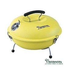 【日本 VACANCES】圓形BBQ烤肉爐(芥茉黃)