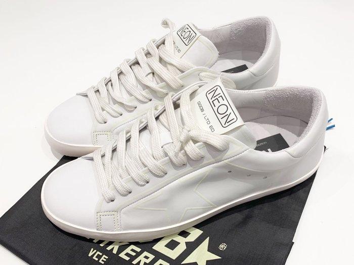 J-Shop Luxury 精品店 男女同款golden goose deluxe brand GGDB 限量款夜光小白鞋 40號 25公分
