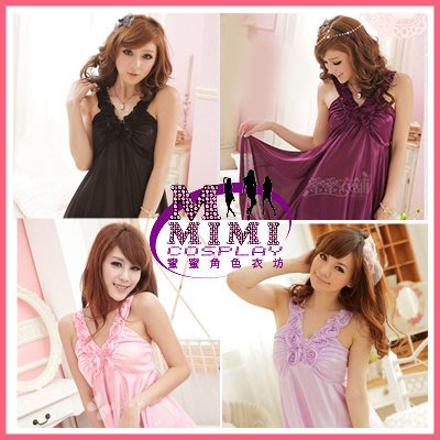 【L-055】浪漫風情玫瑰連身睡衣~專賣惡魔裝.和服.旗袍.女僕裝.學生服~蜜蜜衣舖