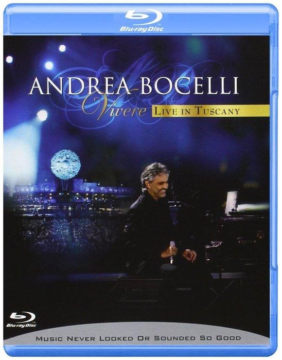 正版藍光BD《安德烈波伽利》生命奇蹟 托斯坎尼演唱會/Andrea Bocelli - Vivere/Live in T