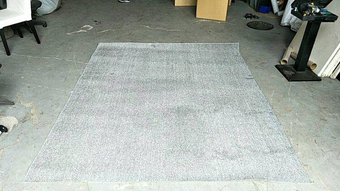 二手家具全省估價(大台北冠均 五股店)二手貨中心--簡約淺灰白短毛地毯 大地毯 X-032805