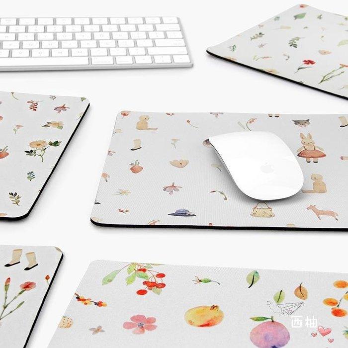 滑鼠墊家用原創插畫滑鼠墊清新文藝創意個性蘋果滑鼠墊可愛卡通 三款可選