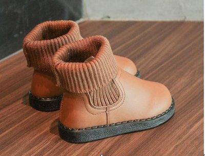 童靴 秋冬女童馬丁靴兒童短靴男童百搭童靴英倫風小中童-小精靈
