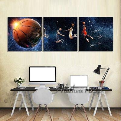 新品~現貨~實木框畫 NBA球星 籃球 Kobe Jordan James 人物海報 居家裝飾 客廳掛畫 房間臥室壁貼壁
