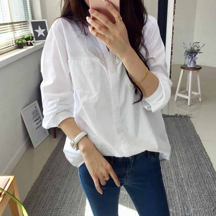 現貨 韓國 韓製 小清新 寬鬆 立領 輕薄 襯衫 CC KOREA ~ Q14956