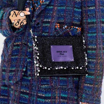 【NO.186】【ANNA SUI mini 10週年紀念時尚特刊附錄閃亮肩背包 側背包 小方包】A20604011