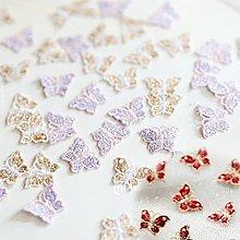 『ღIAsa 愛莎ღ手作雜貨』金線水溶刺繡小蝴蝶新增粉紫外單高品質定制款寬2.2*1.5cm