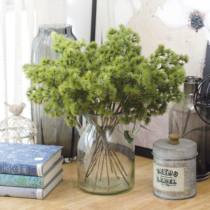 短松針 松針 仿真葉 仿真花 假葉子 松樹 綠色 植物 假植物 攝影 道具 佈置 裝飾 婚禮佈置 花木馬 假葉子 雜貨