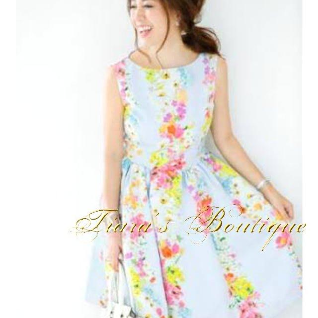 Chesty 日本貴婦-公主系品牌 水藍色花柄洋裝 稀有日本製 喜歡M'S GRACY可參考 (431)