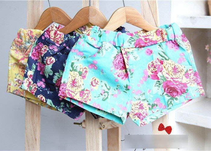 韓版《夏季碎花款》清涼短褲 熱褲 (K4-3)