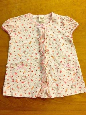 日本帶回 Sanrio正版 Hello Kitty女童襯衫 $200運37 120cm 洗過未穿過