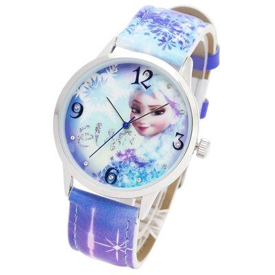日本正版 Disney 迪士尼 冰雪奇緣 艾莎 手錶 腕錶 disney-ay001-lb 日本代購