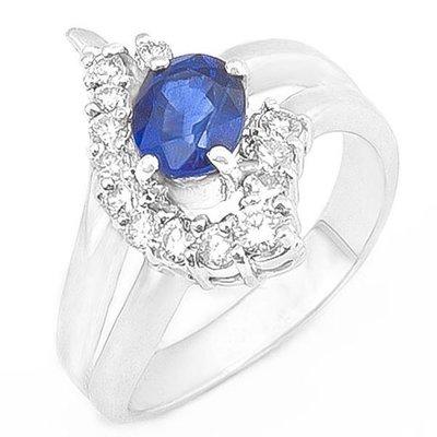 【JHT 金宏總珠寶/GIA鑽石專賣】1.08ct天然藍寶造型鑽戒/材質:18K(S00017)