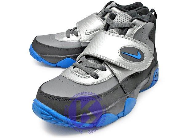 經典復刻 NIKE AIR MISSION GS 大童鞋 女鞋 黑灰銀藍 橄欖球鞋 GD 630911-004